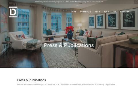 Screenshot of Press Page litadirks.com - Press and Publications - Lita Dirks & Co. Interior Design and Merchandising Firm - captured Sept. 29, 2018