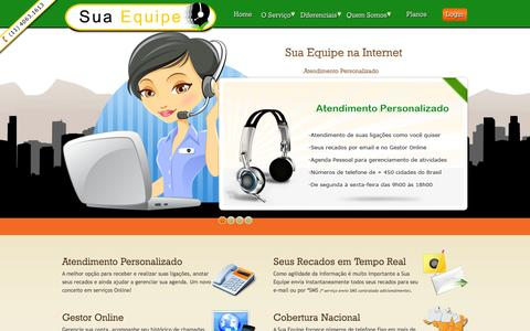 Screenshot of Home Page suaequipe.com.br - Sua Equipe | Um Novo Conceito de Serviços Online - captured Sept. 30, 2014
