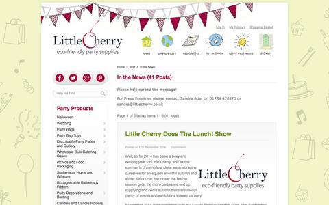 Screenshot of Press Page littlecherry.co.uk - In the News : Little Cherry - captured Oct. 27, 2014