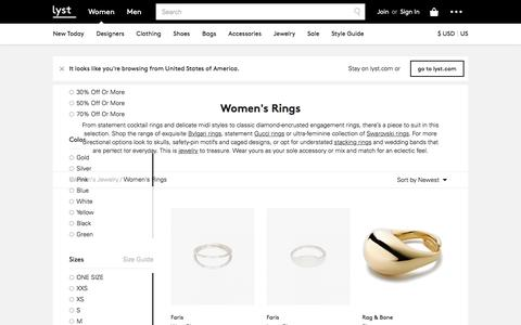 Rings | Gold, Silver & Fashion Rings | Lyst