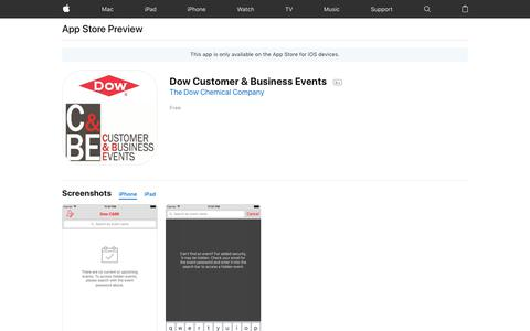 Dow Customer & Business Events on the AppStore