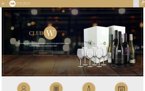 Screenshot of Signup Page wadebaleswinesociety.co.za - ClubW Wine Club South Africa | Wade Bales Wine Society - captured June 17, 2017