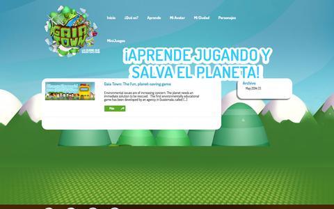 Screenshot of Press Page gaiatown.com - Press Room Archives | GaiaTown - El juego de la educación ambiental - captured Oct. 1, 2014