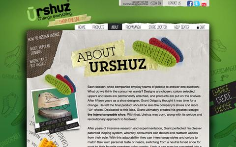 Screenshot of About Page urshuz.com - Urshuz |  Our Story - captured Oct. 26, 2014