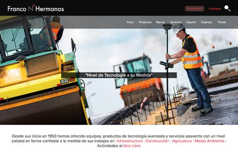 Screenshot of Home Page franconhermanos.com - Franco N Hermanos : BRUNTON - Leica Geosystems - GoalZero - GARMIN - KONUS - SOKKIA · Colombia ©1953 - captured Aug. 17, 2018