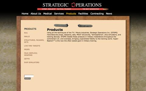 Screenshot of Products Page strategic-operations.com - Products | Strategic Operations - captured Oct. 7, 2014