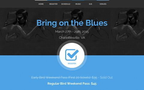 Screenshot of Home Page bring-on-the-blues.com - Bring on the Blues - captured Jan. 30, 2015