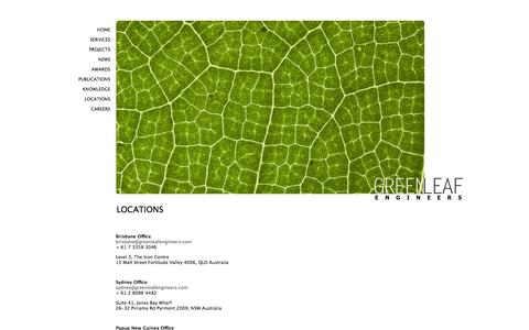 Screenshot of Locations Page greenleafengineers.com - locations | Green Leaf Engineers - captured Sept. 30, 2014