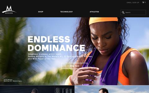 Screenshot of Home Page missionathletecare.com - Professional Athletic Products – Mission Athletecare - captured Jan. 28, 2016