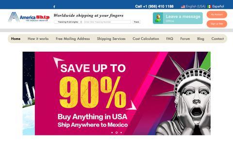 Screenshot of Home Page america-ship.com - Home   America Ship - captured July 9, 2018