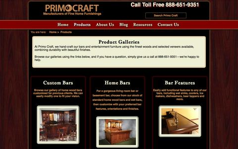 Screenshot of Products Page primocraft.com - Product Galleries Primo Craft | Blaine Minnesota - captured Nov. 13, 2016