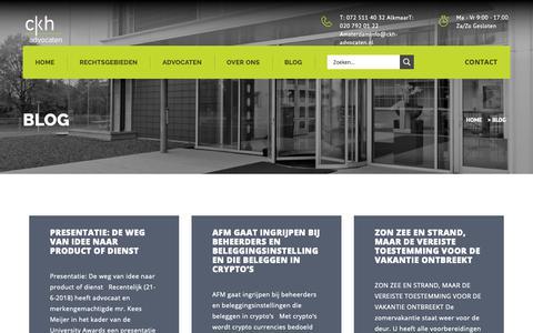 Screenshot of Blog ckh-advocaten.nl - Blog - CKH Advocaten - captured Sept. 27, 2018
