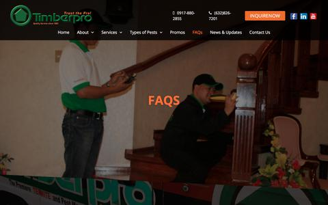 Screenshot of FAQ Page timberpro.com.ph - FAQs | Timber Pro - captured Nov. 4, 2017
