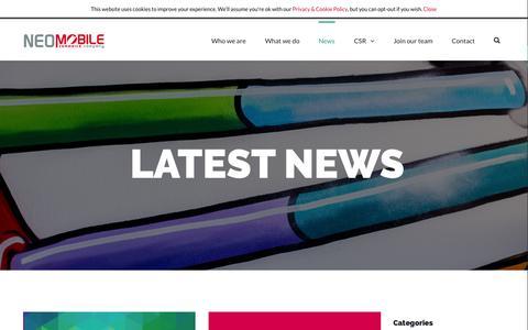 Screenshot of Press Page neomobile.com - Neomobile news - captured Oct. 21, 2015