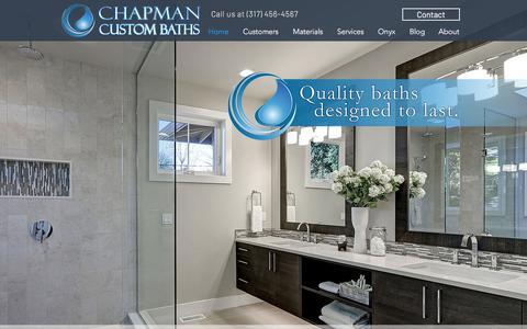 Screenshot of Home Page chapmancustombaths.com - Solid Surface Bathrooms | United States | Chapman Custom Baths - captured July 17, 2018