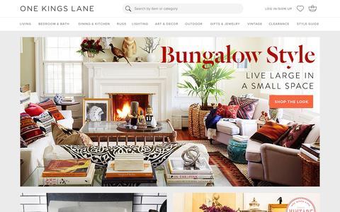 Screenshot of Login Page onekingslane.com - Furniture, Sofas, Rugs, Bedding, Home Decor   One Kings Lane - captured Jan. 14, 2016