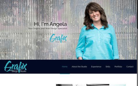 Screenshot of Home Page grafixdesignstudio.com - Home - Grafix Design Studio - captured July 23, 2018