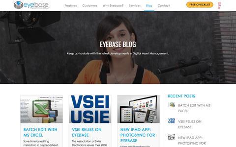 Screenshot of Blog eyebase.com - Eyebase Blog - eyebase USA - captured July 20, 2019