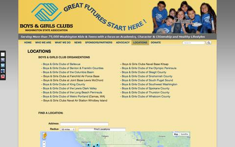Screenshot of Locations Page begreatwa.org - LOCATIONS - - captured Oct. 5, 2014