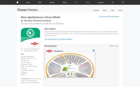 Dow AgroSciences Citrus Wheel on the App Store