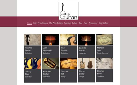 Screenshot of Home Page gapguitars.com - Classical Guitars - www.GapGuitars.com - captured Sept. 30, 2014