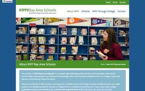 Screenshot of About Page kippbayarea.org - About KIPP Bay Area Schools - KIPP Bay Area Schools - captured Oct. 6, 2014