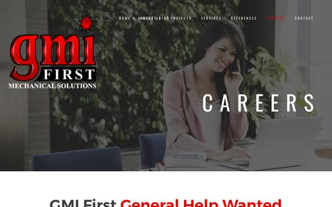 Screenshot of Jobs Page gmifirst.com - Careers – GMI First - captured July 11, 2017