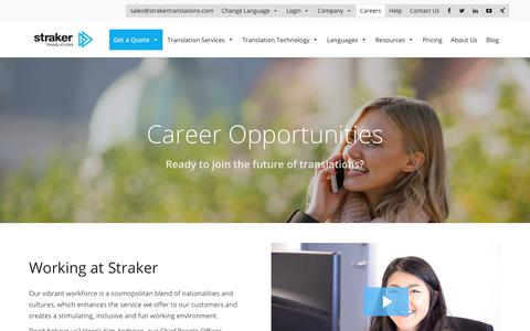 Straker Translations | Career Opportunities