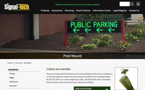 Sign Post Mounts | Sign Post Mount | Signal-Tech