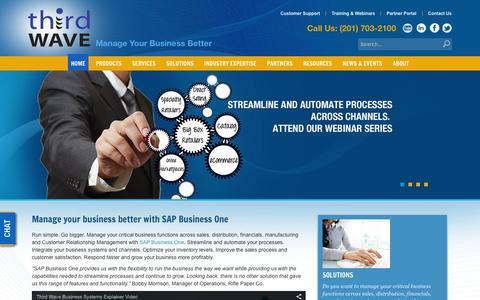 Screenshot of Home Page twbs.com - SAP Business One | SAP B1 - captured Feb. 29, 2016