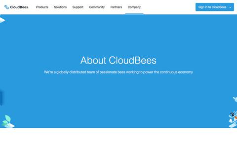 Screenshot of About Page cloudbees.com - About CloudBees | The Leader in Software Delivery Management - captured Nov. 25, 2019