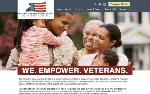 Screenshot of Services Page vocwny.org - Services   Veterans One-stop Center of WNY - captured Oct. 18, 2018