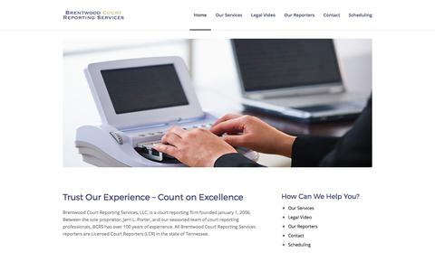 Screenshot of Home Page brentwoodcourtreporting.com - Brentwood Court Reporting Services - captured Oct. 11, 2017