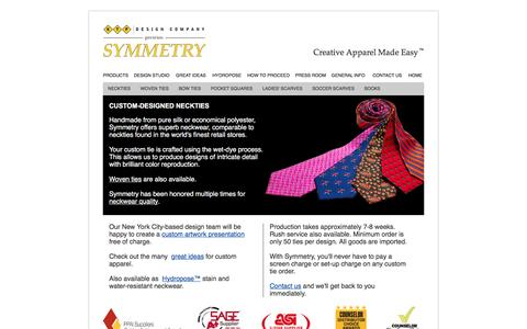 Screenshot of Products Page customtie.com - KTP Design Company Custom Neckties - captured June 20, 2016