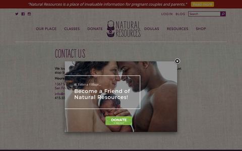 Screenshot of Contact Page naturalresources-sf.com - Contact Us | Natural Resources - captured Nov. 5, 2017