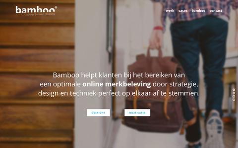 Screenshot of Home Page bamboo-reclame.nl - BAMBOO | Internetbureau Tilburg - captured Jan. 28, 2015