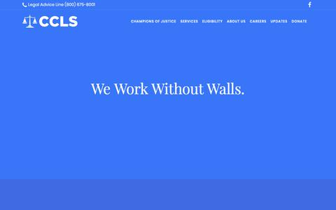 Screenshot of Jobs Page centralcallegal.org - Careers – Central California Legal Services - captured Sept. 27, 2018