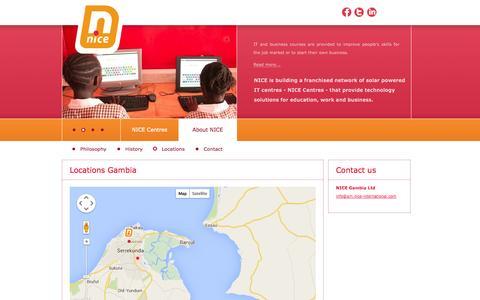 Screenshot of Locations Page nice-international.com - Locations - captured Oct. 26, 2014