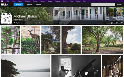 Screenshot of Flickr Page flickr.com - Flickr: straushomeranch's Photostream - captured Oct. 26, 2014