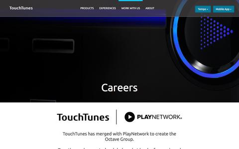 Screenshot of Jobs Page touchtunes.com - TouchTunes | Careers - captured July 10, 2019