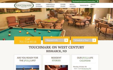 Screenshot of Signup Page touchmarkbismarck.com - Bismarck, ND Senior Living | Touchmark on West Century Bismarck 58503 - captured Oct. 7, 2014