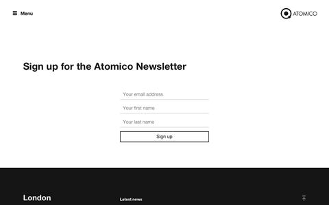 Screenshot of Signup Page atomico.com - Atomico - Great companies can come from anywhere - captured July 31, 2018