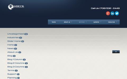 Screenshot of Services Page careyscentral.com - Services - captured Sept. 28, 2015