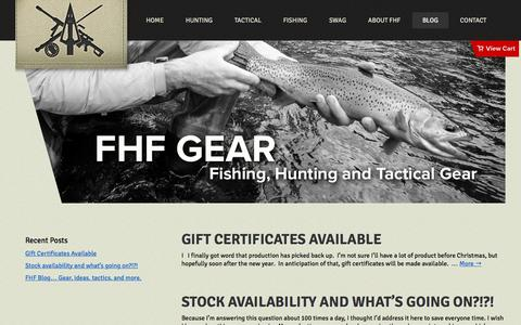 Screenshot of Blog fhfgear.com - Blog | FHF Gear - captured Jan. 8, 2016