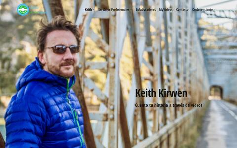 Screenshot of Home Page keithkirwen.com - Keith Kirwen - captured Sept. 6, 2015