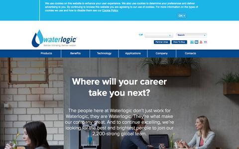Screenshot of Jobs Page waterlogic.com captured June 26, 2018