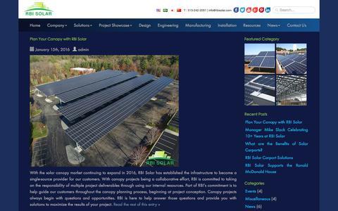 Screenshot of Blog rbisolar.com - RBI Solar Official Blog - captured Jan. 18, 2016