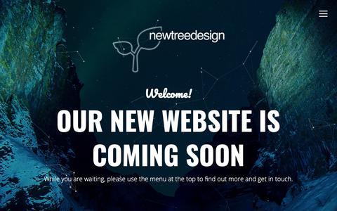 Screenshot of Home Page newtreedesign.co.uk - newtreedesign | Coming Soon - captured Nov. 7, 2018