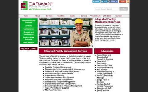 Screenshot of Services Page caravanfm.com - Caravan Facilities Management|Integrated Services - captured July 14, 2017