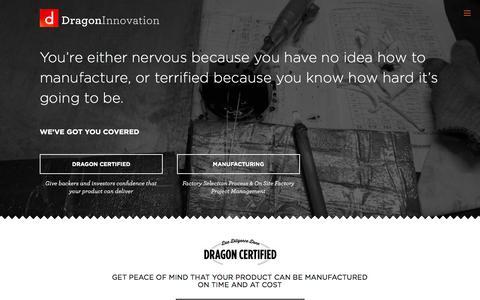 Screenshot of Home Page dragoninnovation.com - Dragon Innovation - captured Sept. 15, 2014